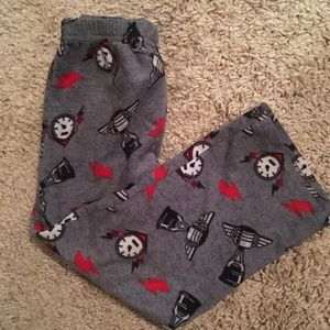Other - Kids pajama bottoms grey red racing size 6